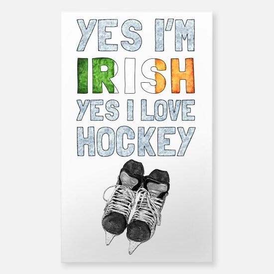 Yes Im Irish, Yes I love Hockey Decal