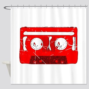 Cassette Tape Retro Shower Curtain