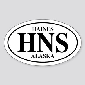 Haines Oval Sticker