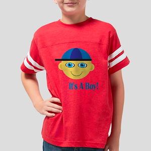 it s boy blue head BLUE words Youth Football Shirt