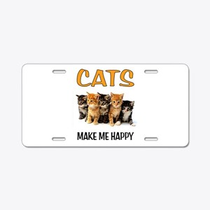 HAPPY CATS Aluminum License Plate