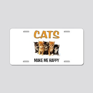 HAPPY CATS Aluminum License Plate