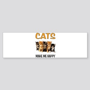 HAPPY CATS Bumper Sticker