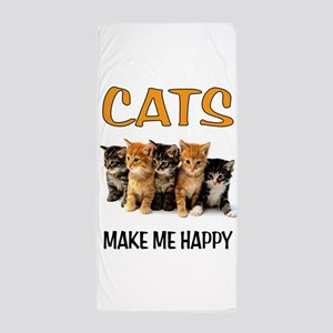 HAPPY CATS Beach Towel