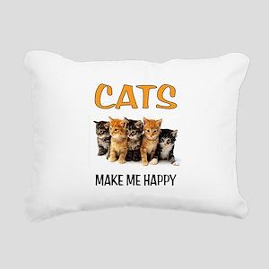 HAPPY CATS Rectangular Canvas Pillow