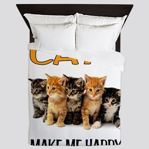 HAPPY CATS Queen Duvet
