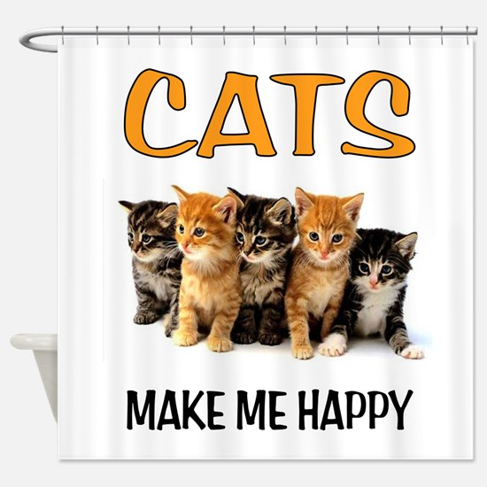 HAPPY CATS Shower Curtain