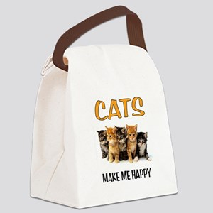 HAPPY CATS Canvas Lunch Bag