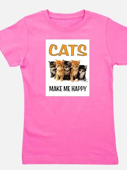 HAPPY CATS Girl's Tee