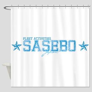 FA Sasebo Japan Shower Curtain
