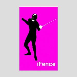 iFence pink - Rectangle Sticker