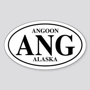 Angoon Oval Sticker