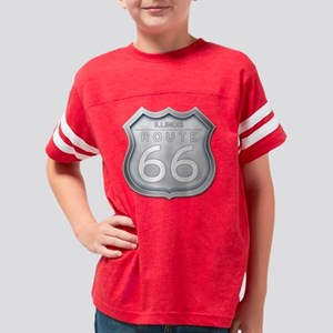 Illinois Route 66 - Grey Youth Football Shirt