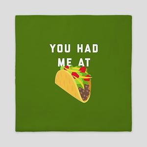 You Had Me At Tacos Emoji Queen Duvet