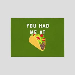 You Had Me At Tacos Emoji 5'x7'Area Rug