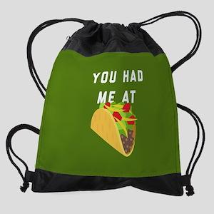 You Had Me At Tacos Emoji Drawstring Bag