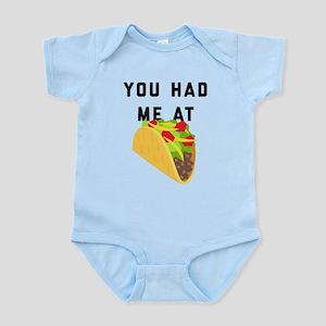 You Had Me At Tacos Emoji Infant Bodysuit