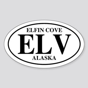 Elfin Cove Oval Sticker