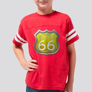 Illinois Route 66 - Yellow Youth Football Shirt