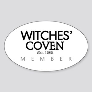 'Witches' Coven' Sticker (Oval)