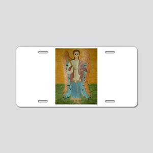 Saint Michael Aluminum License Plate