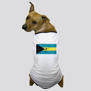 Bahamian Flag (Punk) Dog T-Shirt