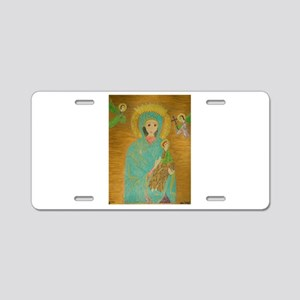 Our Lady of Perpetual Help Aluminum License Plate