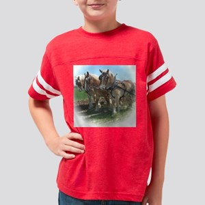 threehorsesplowingcircleresiz Youth Football Shirt