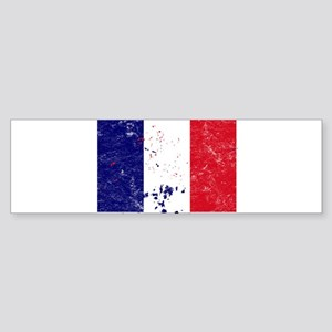 French Flag (Punk) Bumper Sticker