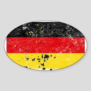 German Flag (Punk) Oval Sticker