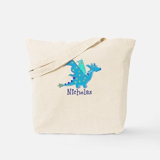 Cute Blue Dragon Tote Bag