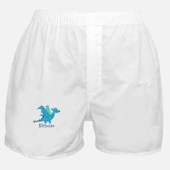 Cute Blue Dragon Boxer Shorts