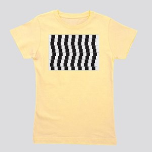 Optical illusion tilted lines Girl's Tee