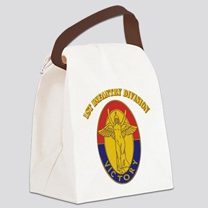 DUI - 1st Infantry Division with Text Canvas Lunch