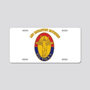 DUI - 1st Infantry Division with Text Aluminum Lic