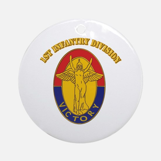 DUI - 1st Infantry Division with Text Ornament (Ro