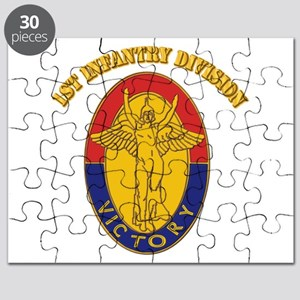 DUI - 1st Infantry Division with Text Puzzle