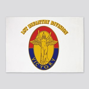 DUI - 1st Infantry Division with Text 5'x7'Area Ru