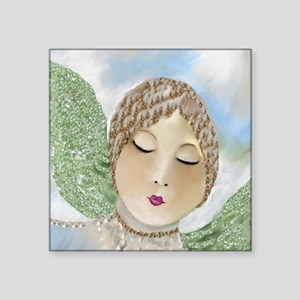 "Emerald Angel by Lin Master Square Sticker 3"" x 3"""