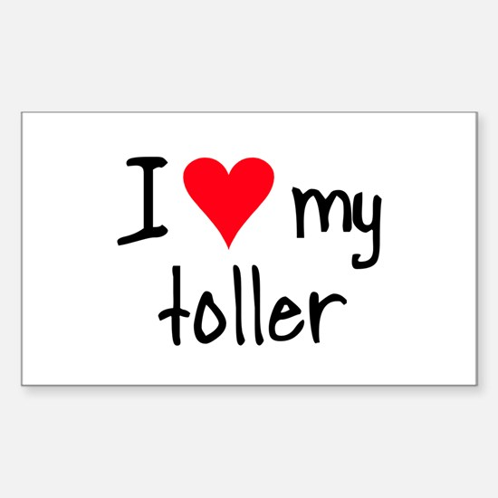 I LOVE MY Toller Sticker (Rectangle)