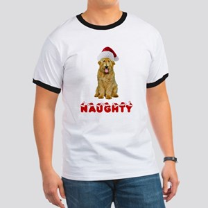 Naughty Goldendoodle Ringer T
