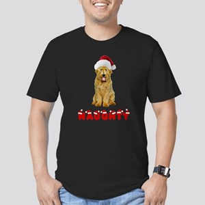 Naughty Goldendoodle Men's Fitted T-Shirt (dark)