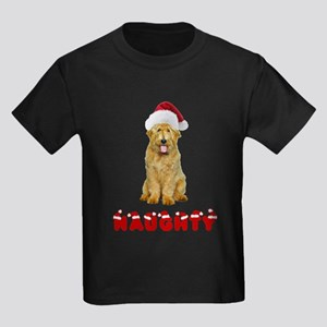 Naughty Goldendoodle Kids Dark T-Shirt
