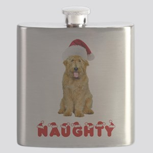 Naughty Goldendoodle Flask