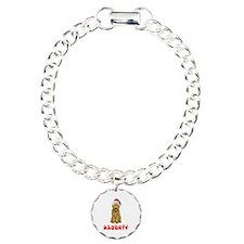Naughty Goldendoodle Charm Bracelet, One Charm