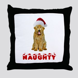 Naughty Goldendoodle Throw Pillow