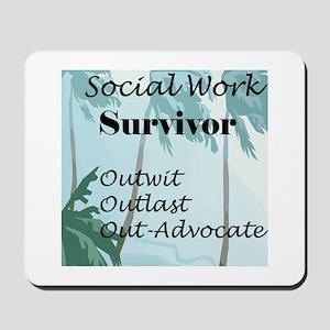 Social Work Survivor Mousepad