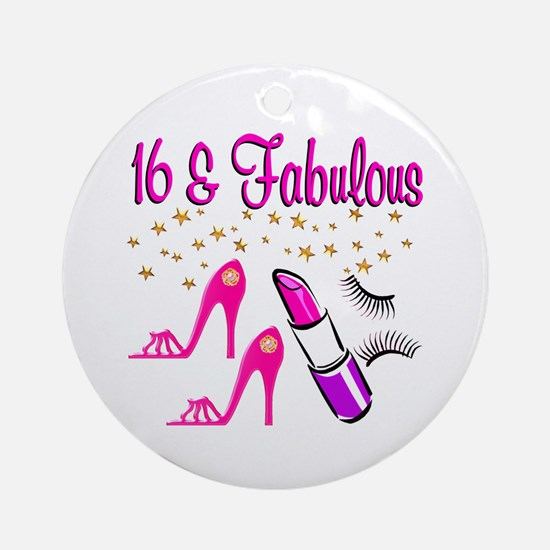 FABULOUS 16TH Ornament (Round)