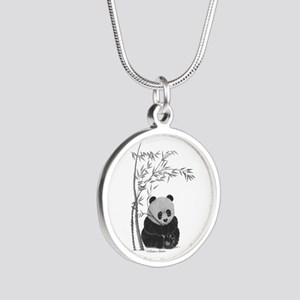 Little Panda Silver Round Necklace