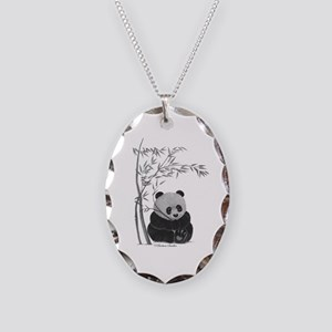 Little Panda Necklace Oval Charm